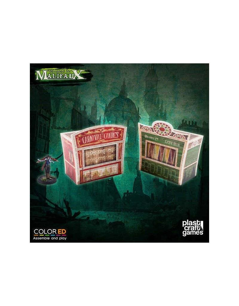 Plastcraft Dark-Carnival Circus Stand Set (2 x pre-painted)