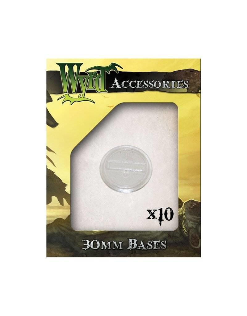 Wyrd Clear  Bases 30mm (10)