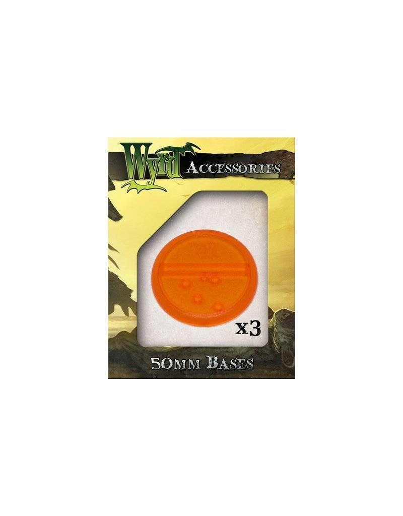 Wyrd Orange  Bases 50mm (3)
