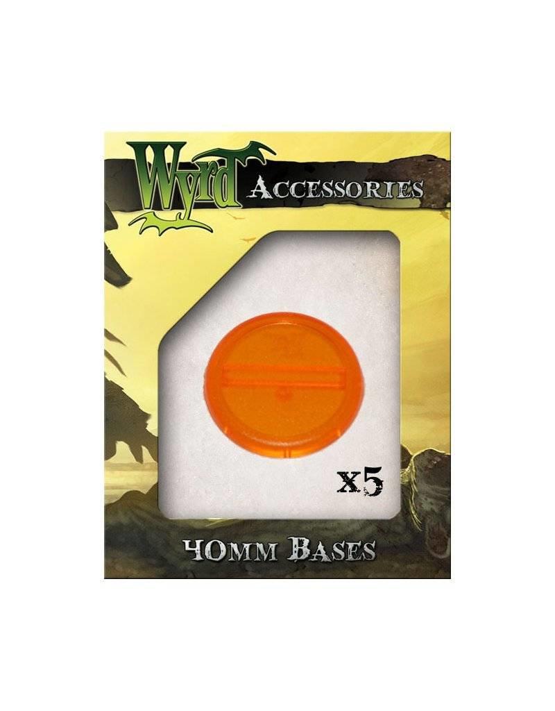 Wyrd Orange  Bases 40mm (5)