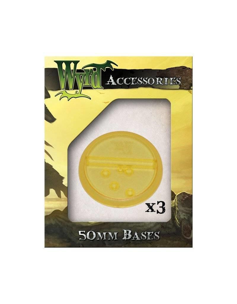 Wyrd Gold Translucent Bases 50mm (3)