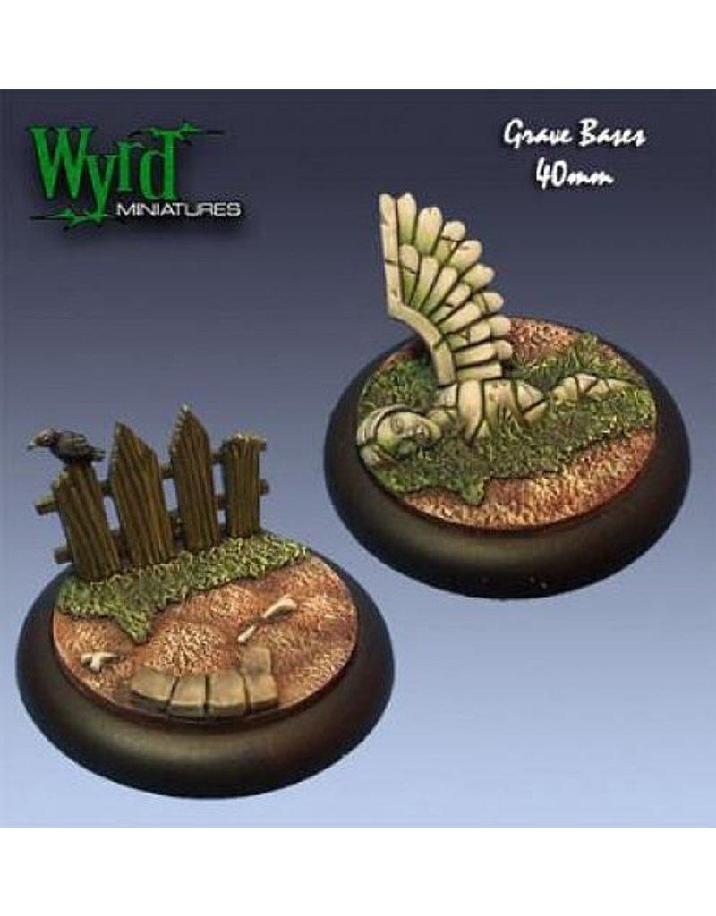 Wyrd Graveyard Bases - 40mm (2)
