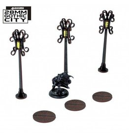 4Ground 3x Sewer Cover Type B and 3x Lampost Type B