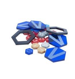 Mantic Games DreadBall Xtreme Acrylic Counters - Blue