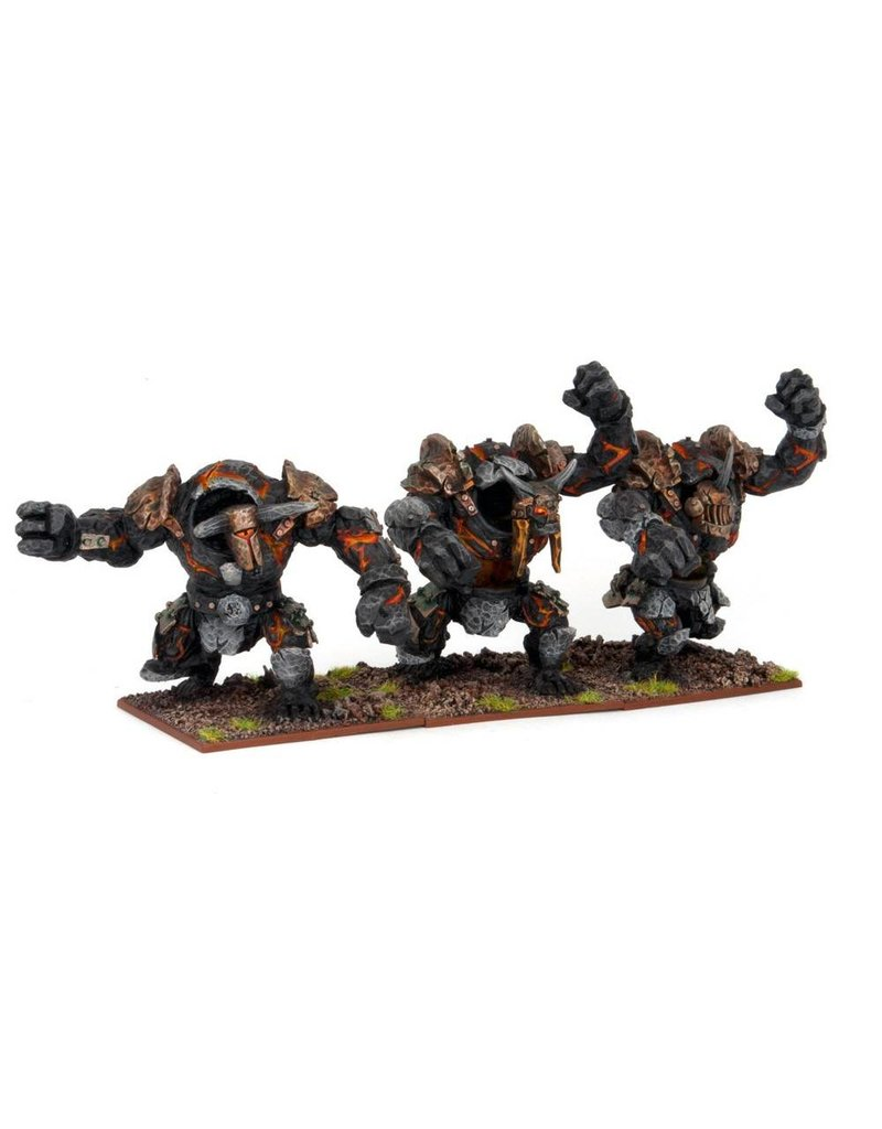 Mantic Games Abyssal Dwarfs: Lesser Obsidian Golem Regiment