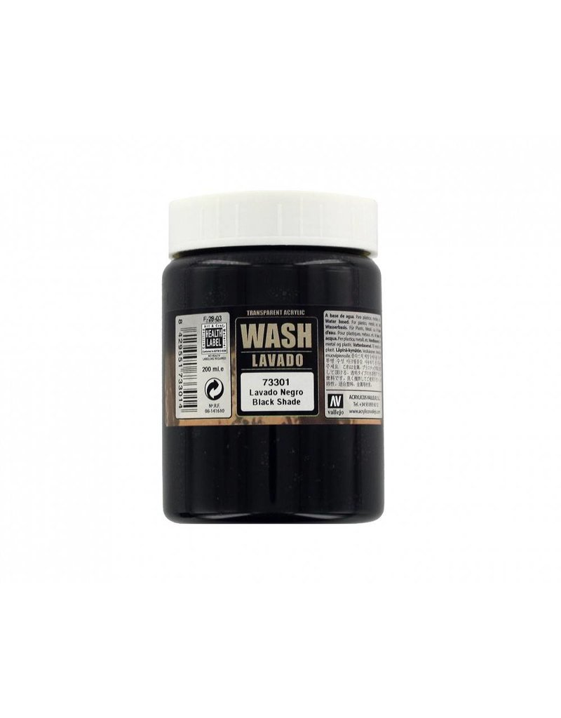 Vallejo Wash - Black 200ml