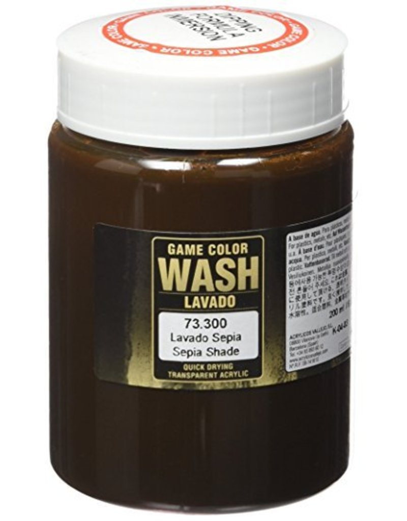 Vallejo Wash – Sepia Wash 200ml