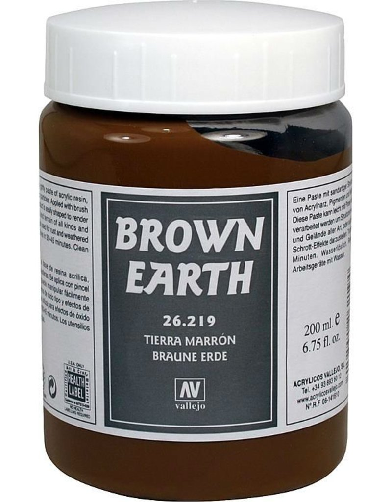 Vallejo Diorama Effects - Brown Earth Paste 200ml