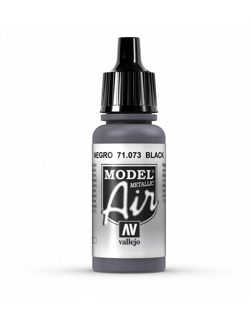 Vallejo Model Air - Black (Metallic) 17ml