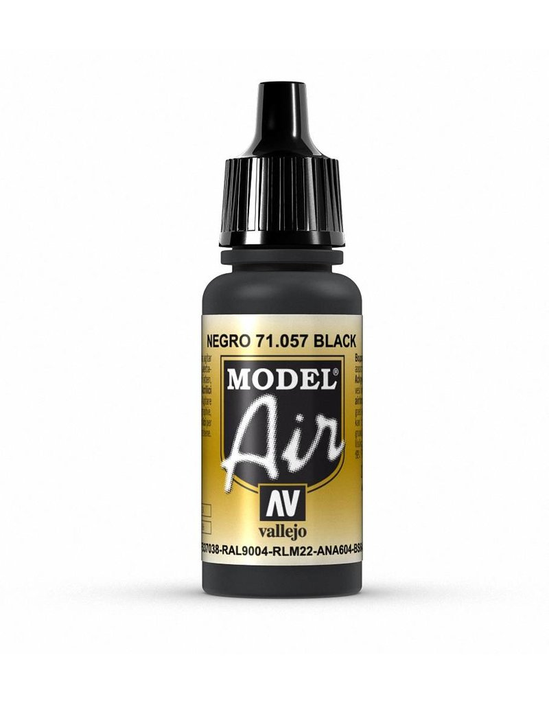 Vallejo Model Air - Black 17ml