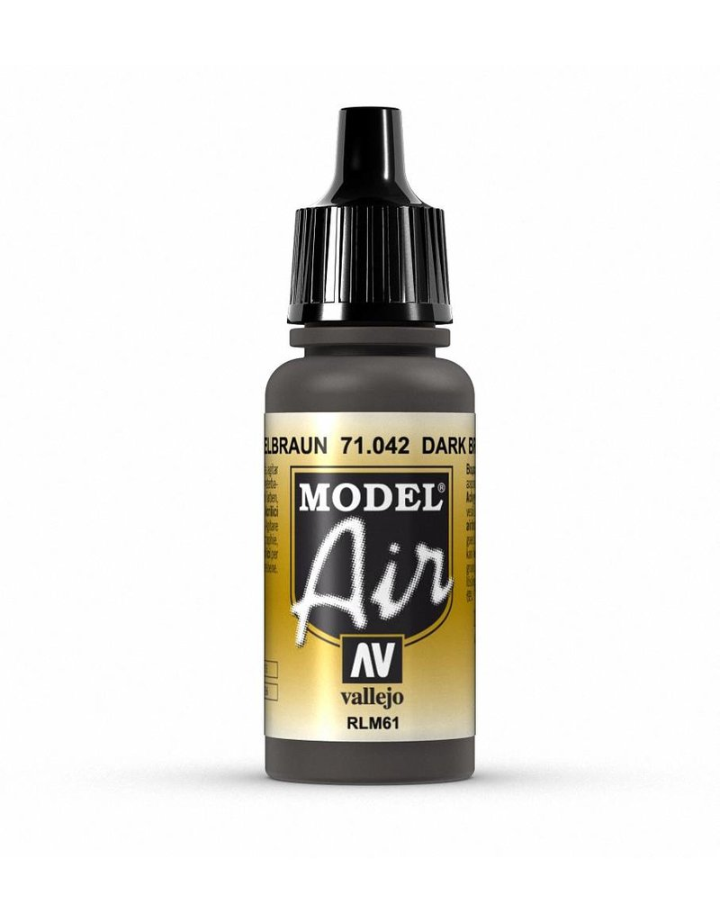 Vallejo Model Air - Camouflage Black Brown 17ml