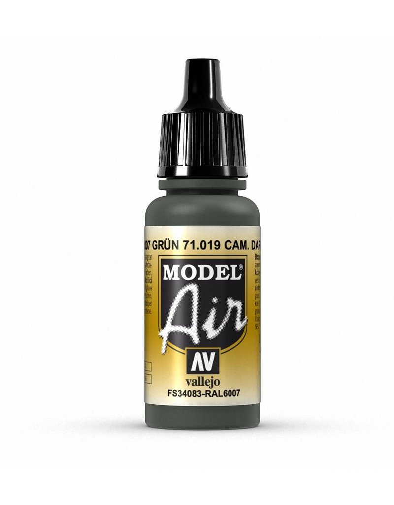 Vallejo Model Air - Camouflage Dark Green 17ml