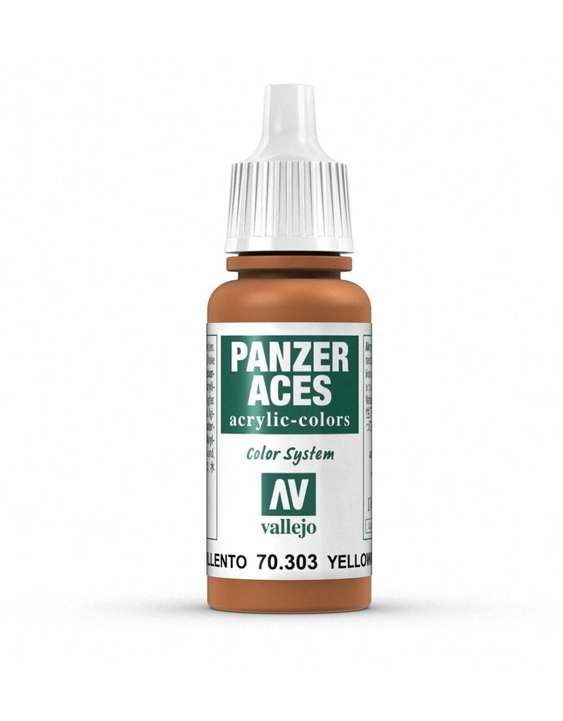 Vallejo Panzer Aces - Yellowish Rust 17ml