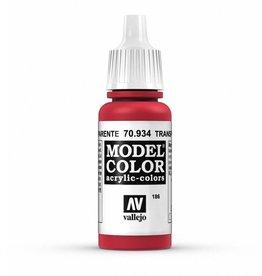 Vallejo Transparent Red 17ml