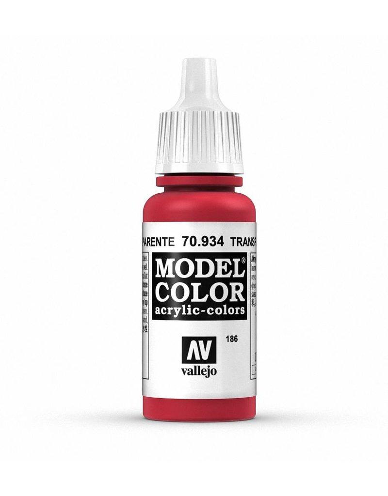Vallejo Model Color - Transparent Red 17ml