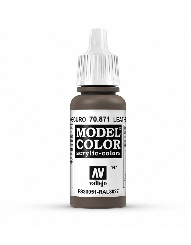 Vallejo Model Color - Leather Brown 17ml
