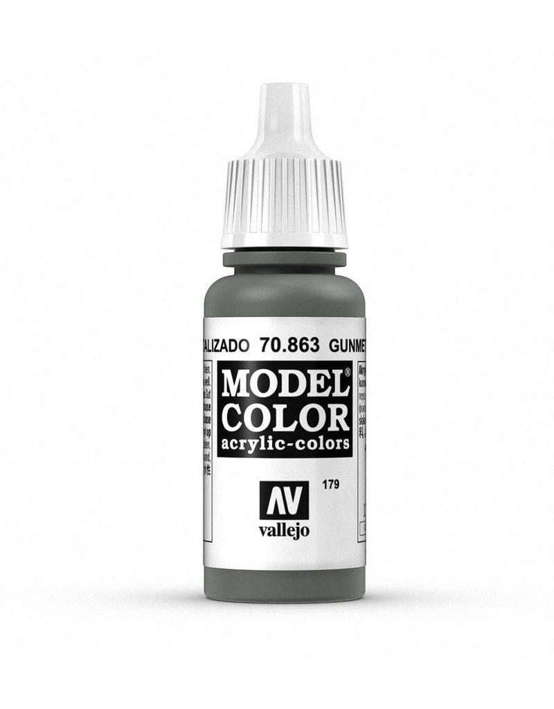 Vallejo Model Color - Metallic Gunmetal Grey 17ml