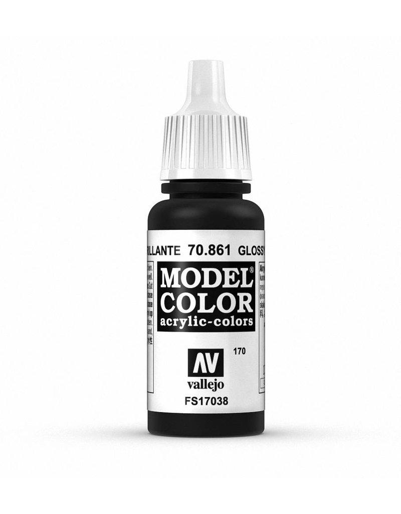 Vallejo Model Color - Gloss Black 17ml