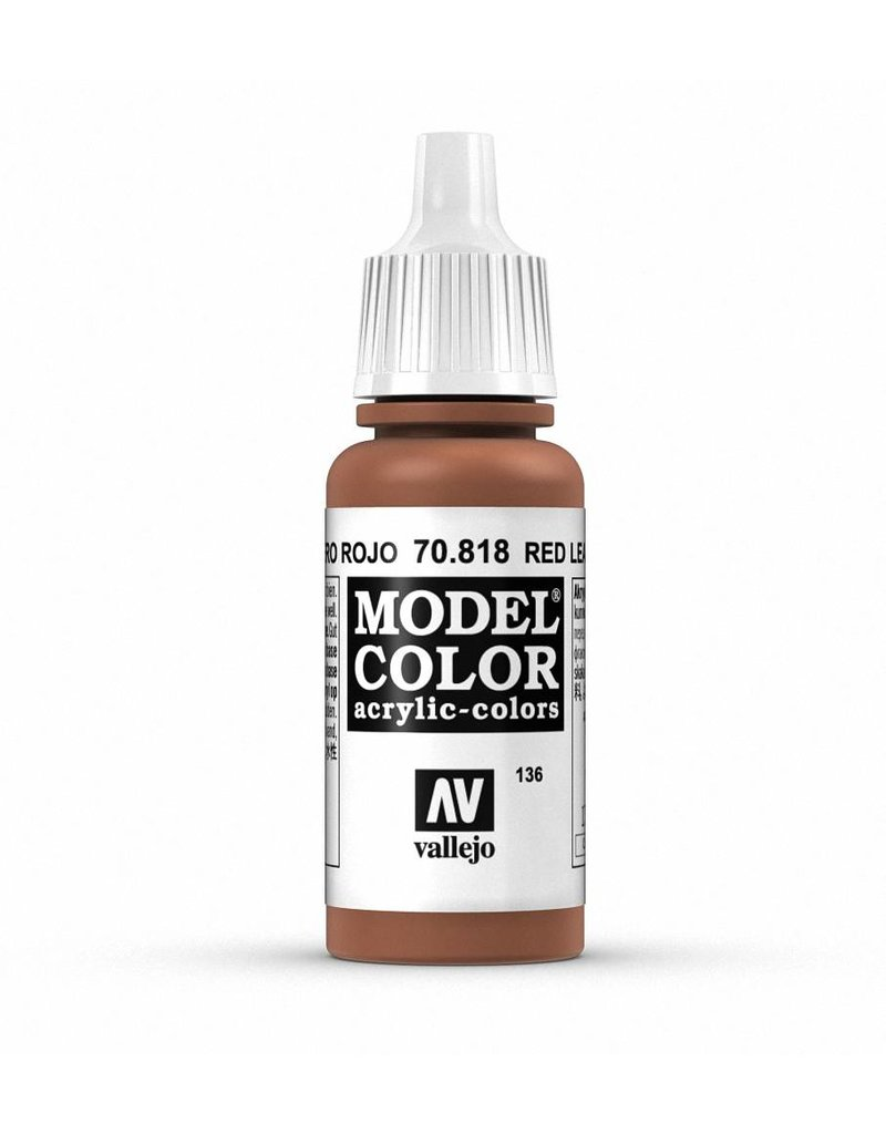 Vallejo Model Color - Red Leather 17ml