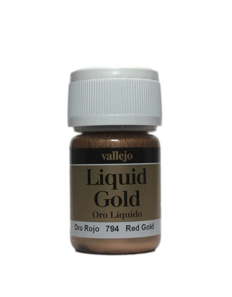 Vallejo Liquid Metallics - Liquid Gold Red Gold 35ml