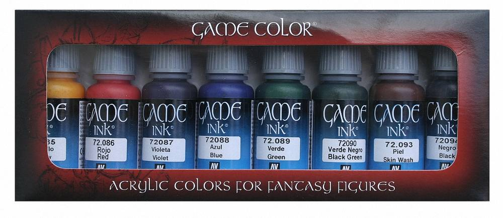 Buy Ink Set Online Game Color 17ml Acrylic Dropper Bottles