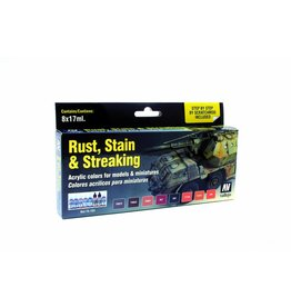 Vallejo Rust, Stains and Streaking Set (x8)