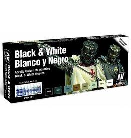 Vallejo AV Vallejo Model Color Set - Black and White