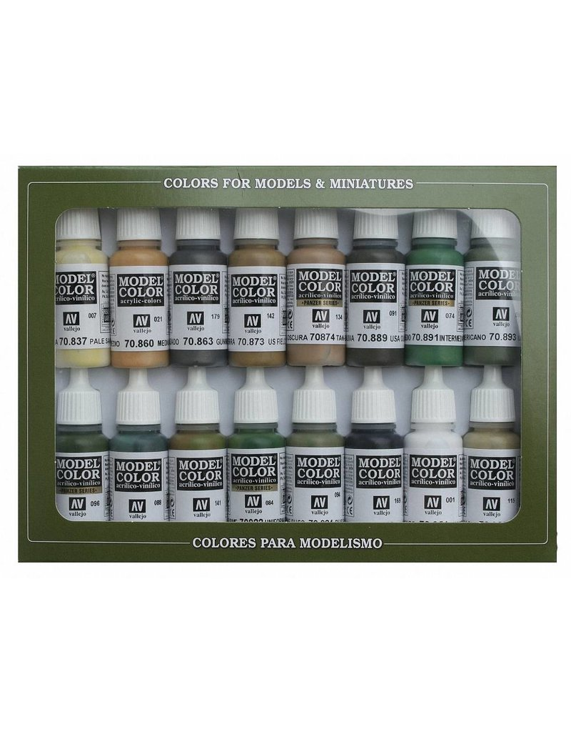 Vallejo Model Color Set - WWII Allies (x16)