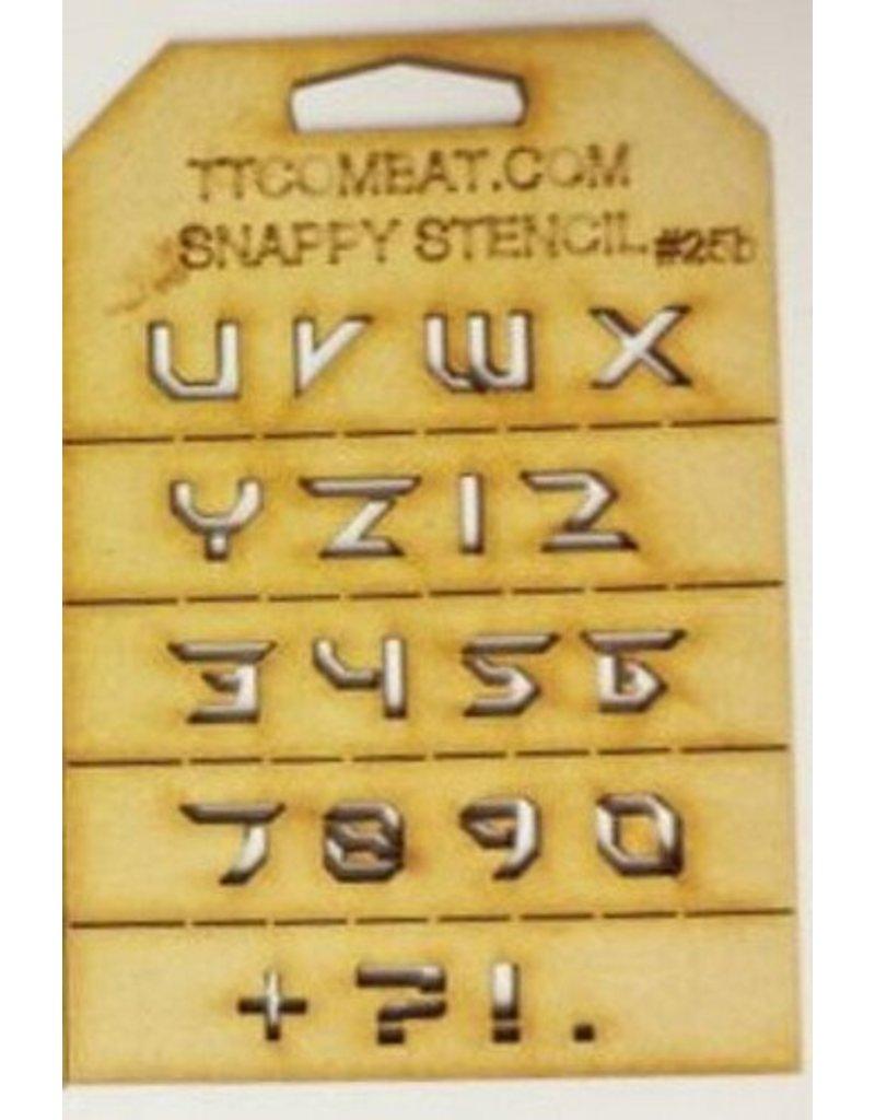 TT COMBAT Futuristic Letters (U-9)