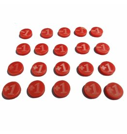 TT COMBAT +1/-1 Counters - Red - Set of 20