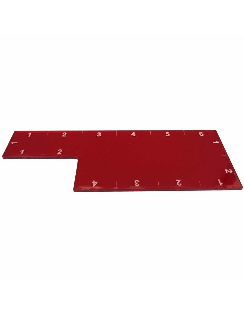 "TT COMBAT 6"" Range Ruler - Red"
