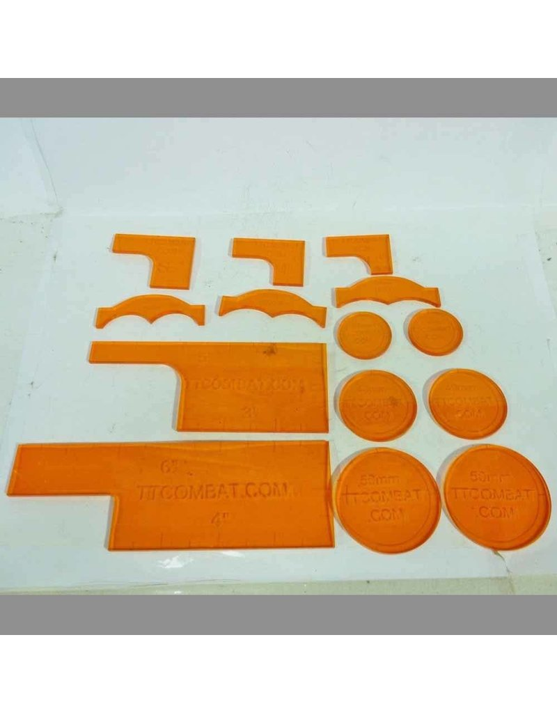 Tt Combat Orange Warmachine Templates Goblin Gaming