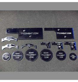 TT COMBAT Dark Blue Warmachine templates