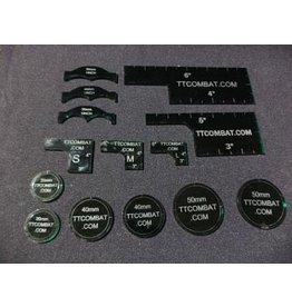TT COMBAT Dark Green Warmachine templates