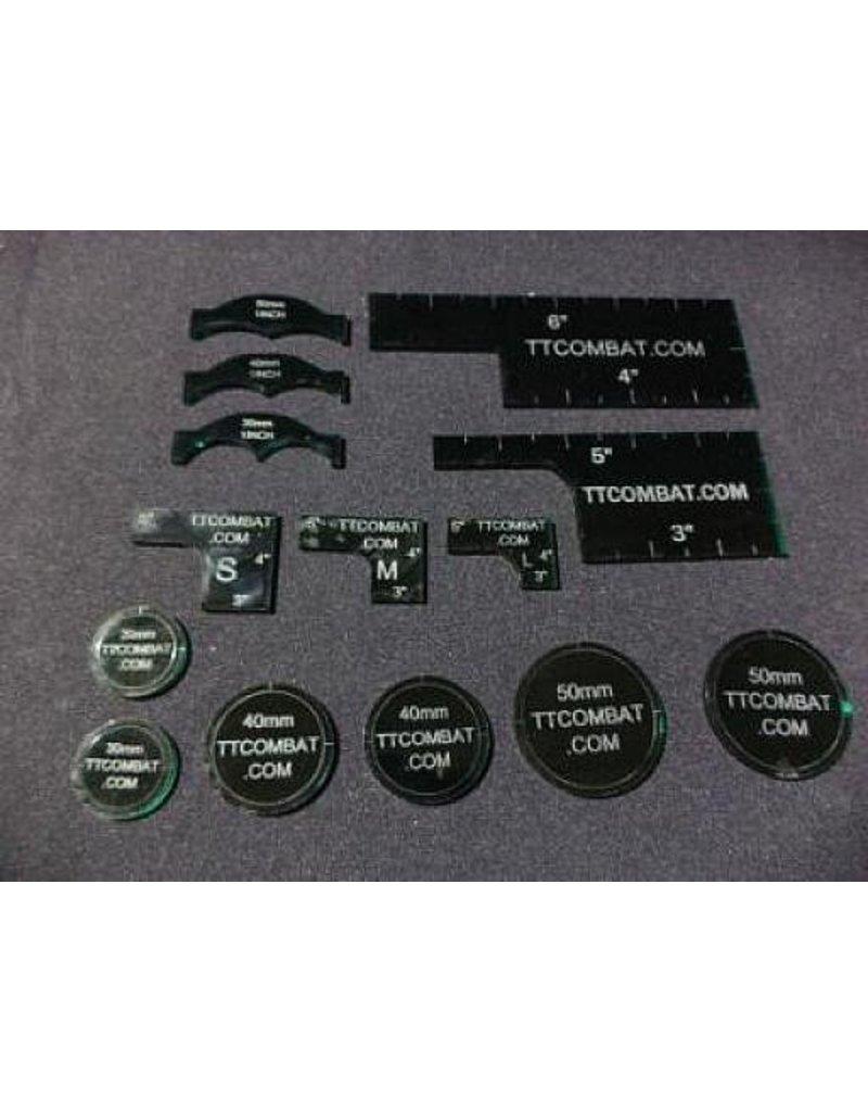 TT COMBAT Dark Green Warmachine templates