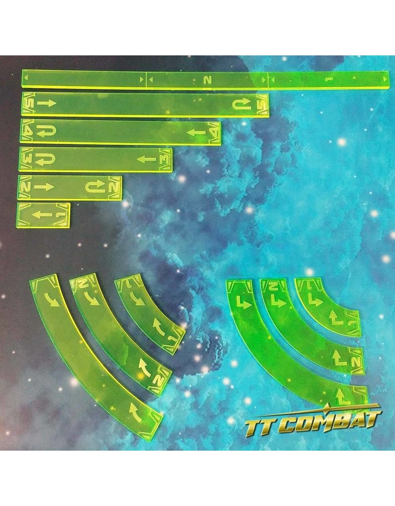 TT COMBAT Space-Wing Templates (Acid Green)