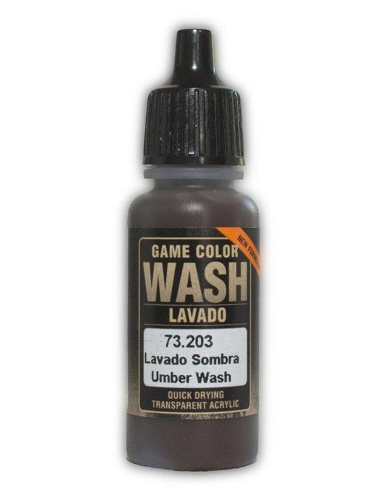 Vallejo Game Wash - Umber Shade Wash 17ml