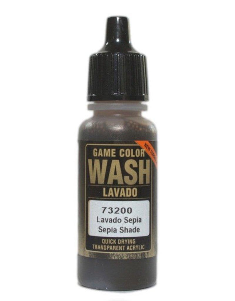 Vallejo Game Wash - Sepia Wash 17ml