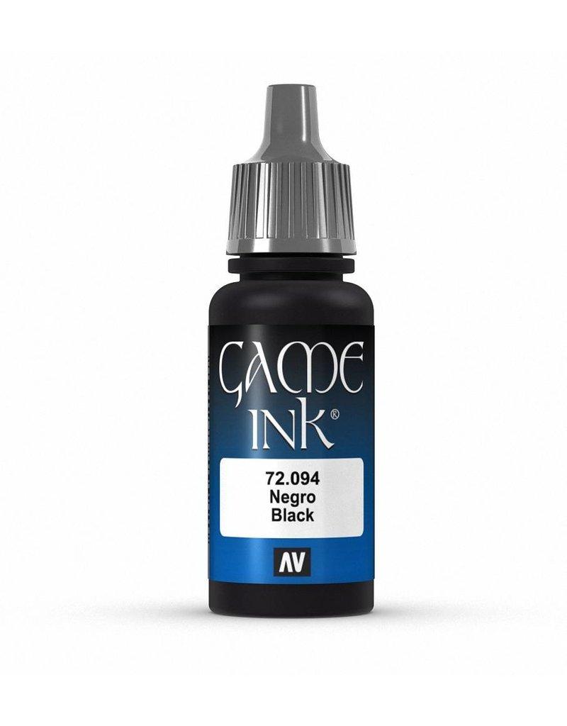 Vallejo Game Ink - Black Ink 17ml