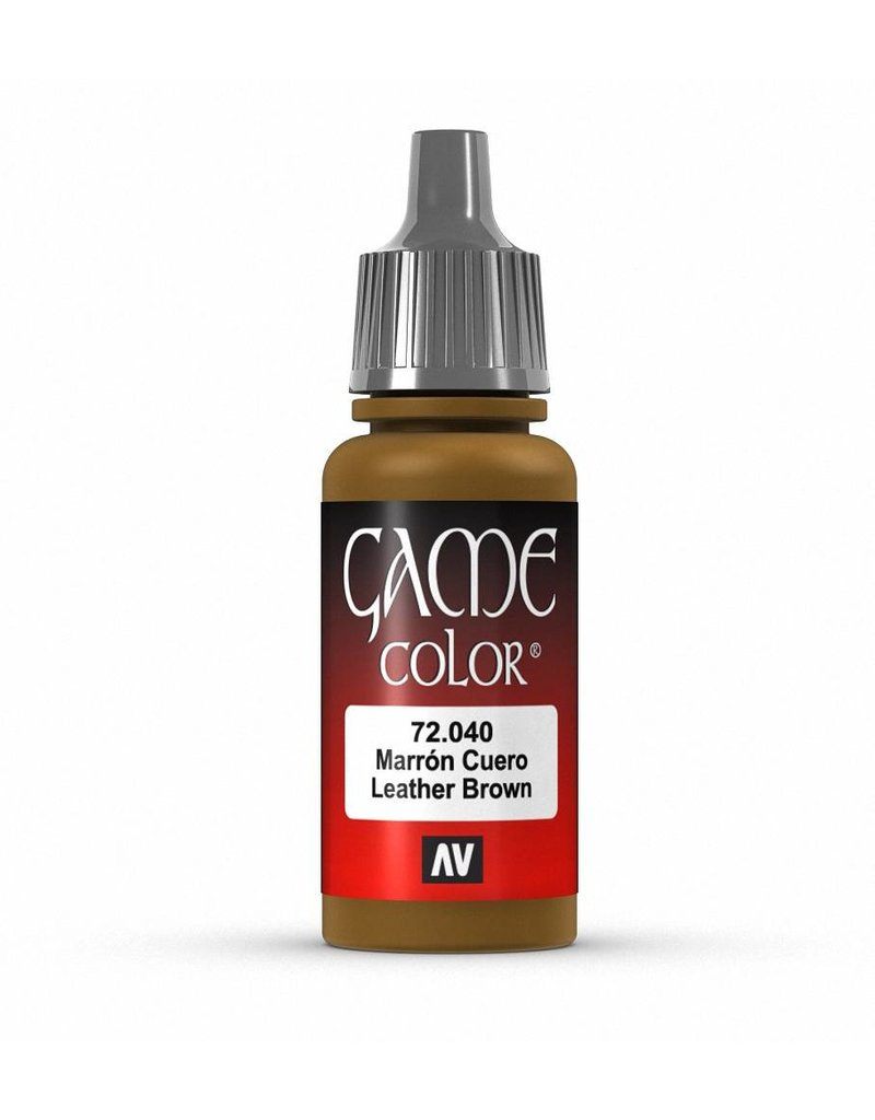 Vallejo Game Color - Leather Brown 17ml