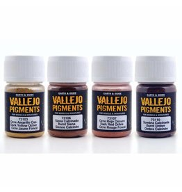 Vallejo Vallejo Pigments  Set - Rust and Oil