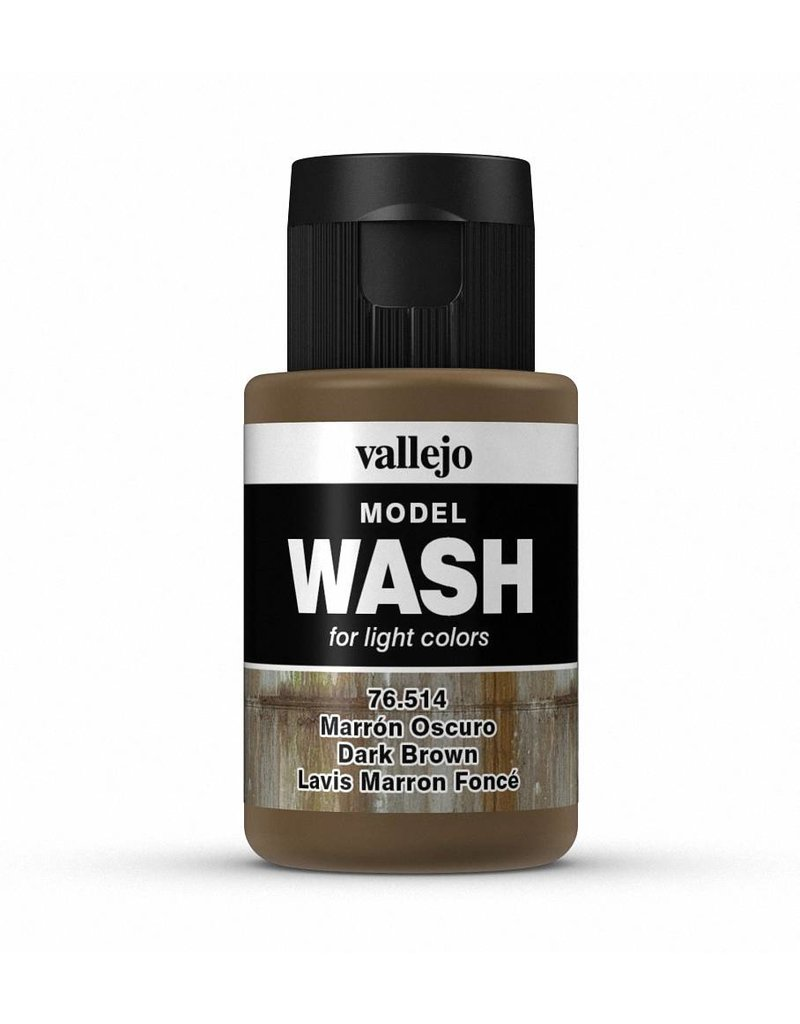 Vallejo Model Wash - Dark Brown 35ml