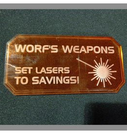 TT COMBAT Sign H (Worf's Weapons)