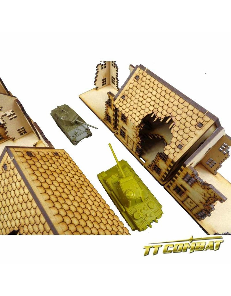 TT COMBAT 15mm Ruined Town House Set