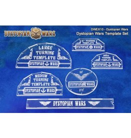Spartan Games Dystopian Wars Turning Template Set