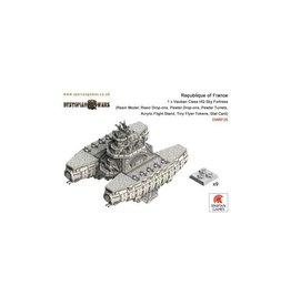 Spartan Games Republique of France Vauban Class Surface Skimming Dreadnought
