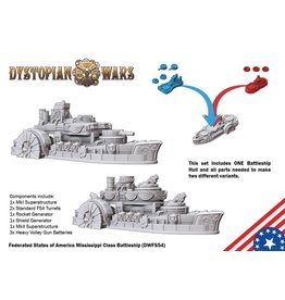 Spartan Games Federated States of America Mississippi Class Battleship