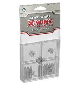 Fantasy Flight Games Star Wars X-Wing: Clear Bases and Pegs Accessory