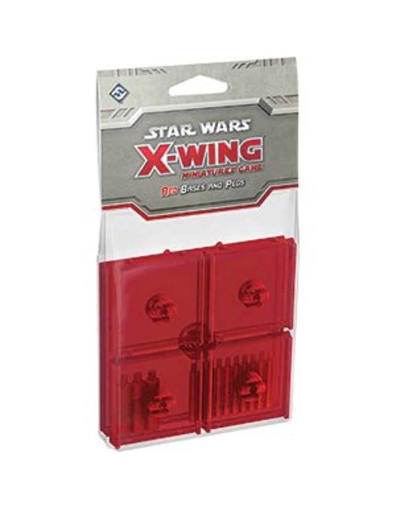 Fantasy Flight Games Star Wars X-Wing: Red Bases and Pegs Accessory Pack