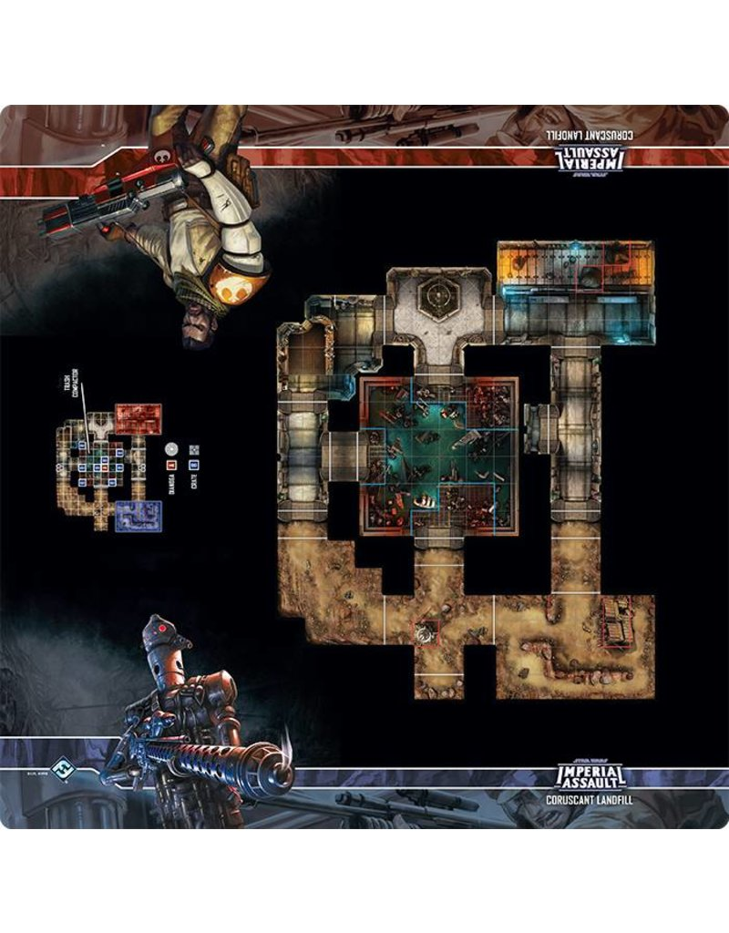 Fantasy Flight Games Star Wars Imperial Assault: Coruscant Landfill Skirmish Map